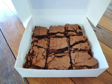 brownies choc raspberry